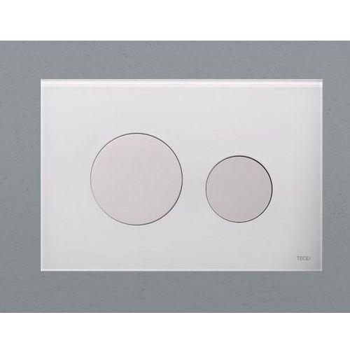 Tece przycisk spłukujący TECEloop zkło białe, przyciski białe 9240650