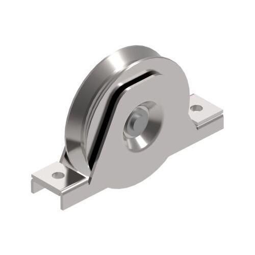 Koło do bram przesuwnych z rowkiem-V, INOX, D80mm