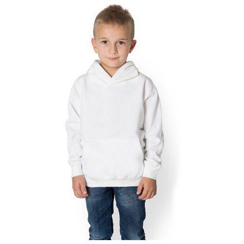 Dziecięca bluza (bez nadruku, gładka) - biała, kolor biały