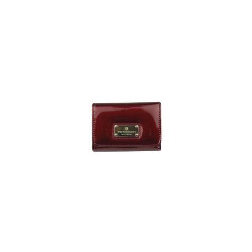 7b4098e4cadc8 Czerwony damski portfel skórzany Peterson BC 455 RED