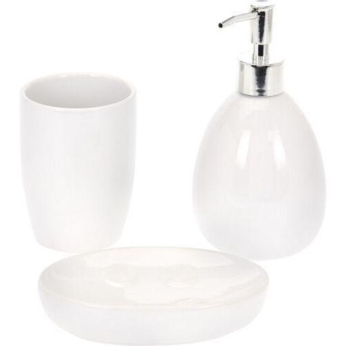 Zestaw łazienkowy valmy 3 szt., biały marki 4-home