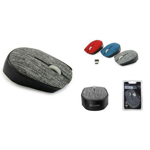 Vakoss Mysz bezprzewodowa tm-662a tekstylna optyczna 3 przyciski, 1000dpi szara (4718308119770)