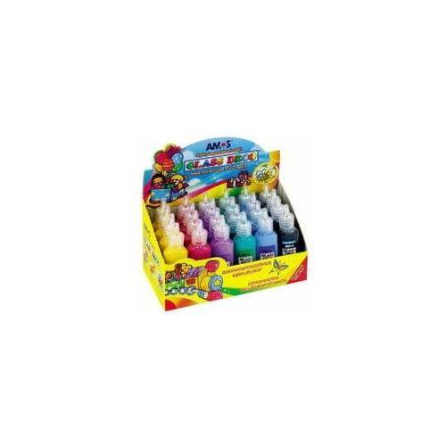 Farby witrażowe Amos 6 kolorów x 4 sztuki, 24553320873