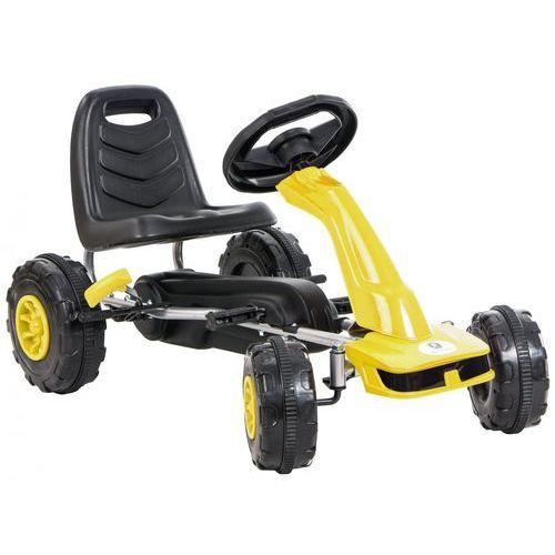 Kidzmotion Gokart na pedały kidz motion jeździk dla dzieci 3-8 lat żółty + darmowy transport!