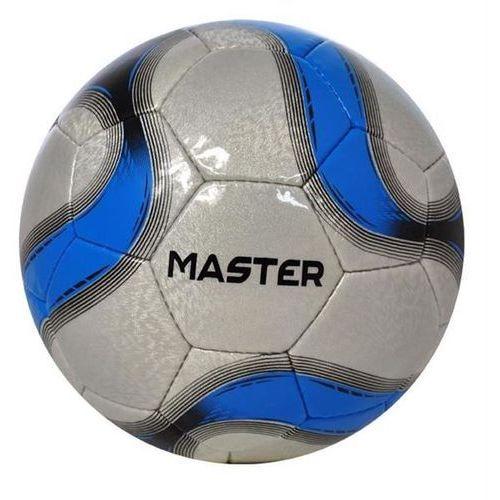 Piłka nożna rekreacyjna axer master blue/silver - niebieski ||srebrny ||czarny marki Axer sport