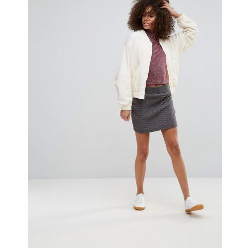quilted skirt - grey, Qed london, 38-40