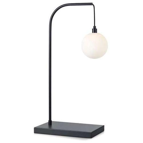 Stojąca LAMPKA biurkowa BUDDY 107493 Markslojd metalowa LAMPA stołowa szklana kula ball czarna biała