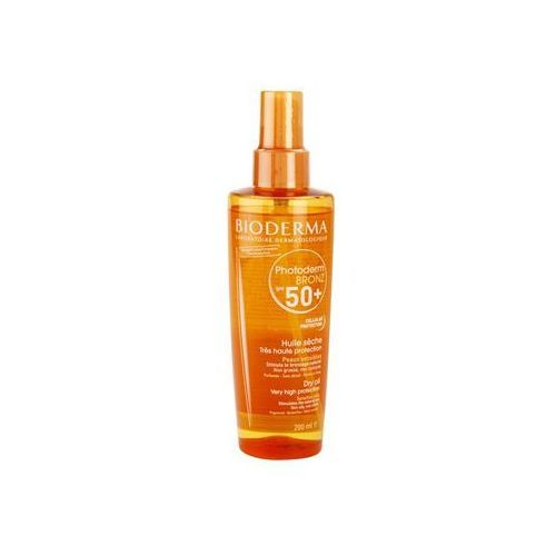 Bioderma Photoderm Bronz suchy olejek do opalania SPF 50+ (Dry Oil) 200 ml