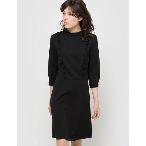 Sukienka z długim rękawem, kolor czarny