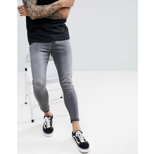 regular slim fit comfort jeans in grey - grey marki Pull&bear
