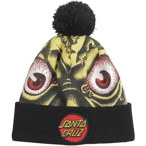 Santa cruz Czapka zimowa - rob eyes bobble yellow/black bobble (bobble) rozmiar: os
