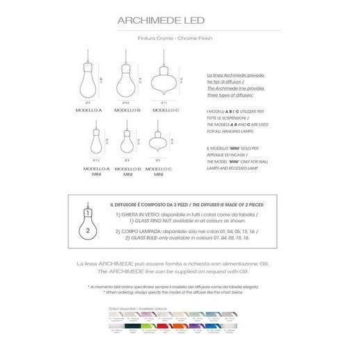 Cangini & tucci lampa wisząca arabesque (szkło ryflowane) - rgig1243.1l marki Cangini&tucci