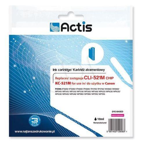 Actis Tusz kc-521m magenta do drukarek canon (zamiennik canon cli-521m) z chipem [10ml]