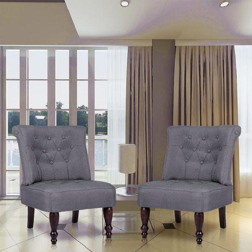 vidaXL Fotele francuskie, szare x2 (8718475038702)