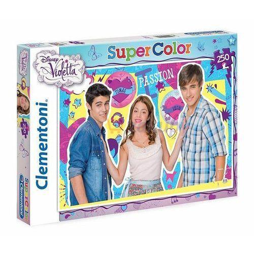 puzzle super color - violetta 250 el. marki Clementoni