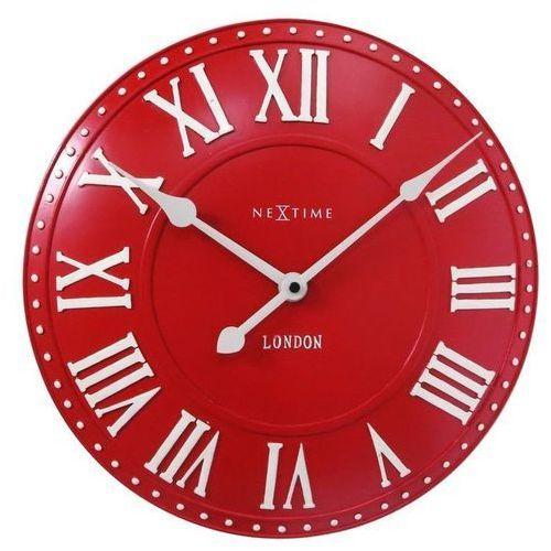 - zegar ścienny london roman - czerwony marki Nextime