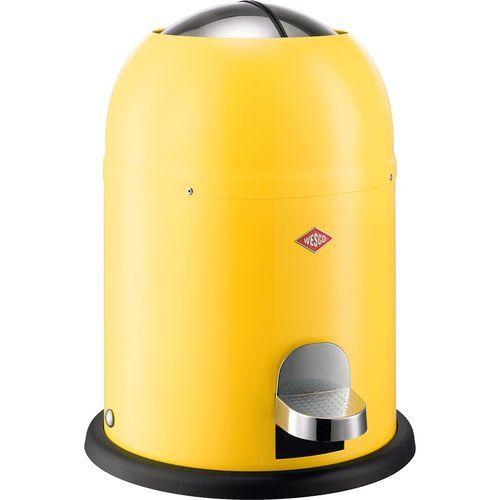 Mały kosz na śmieci żółty, pedałowy 9 Litrów Single Master Wesco (180212-19) (4004519027936)