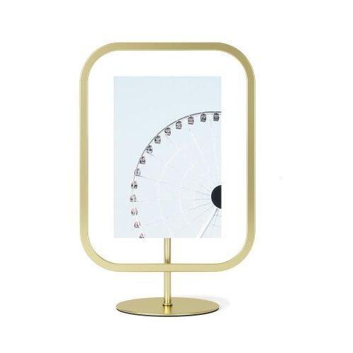 Ramka na zdjęcia infinity square brass 27x22 cm marki Umbra