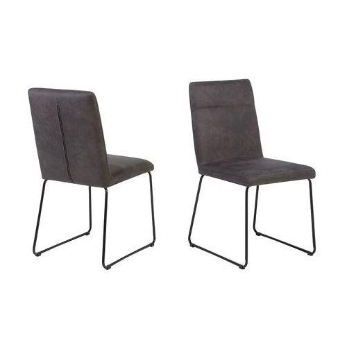 Beliani Zestaw do jadalni 2 krzesła ciemnoszare nevada (7105274754222)