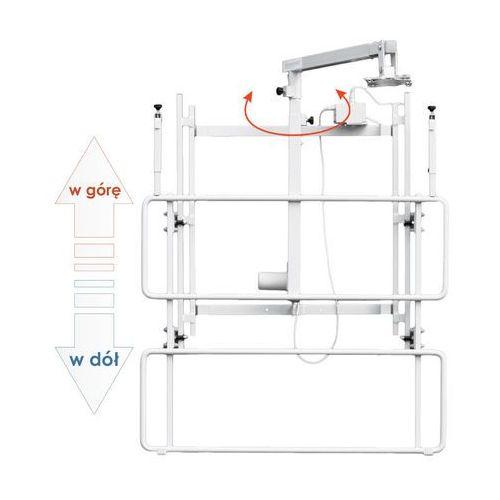 Uchwyt ścienny do tablicy z elektryczną regulacją wysokości i wysięgnikiem do projektora uvis-el rw50 marki Mentor