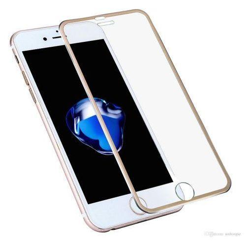Szkło hartowane iphone 7 metalowa obramówka marki Memory king