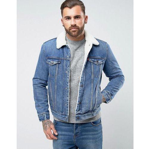 Levi's type 3 borg jacket needle park wash - blue, Levis