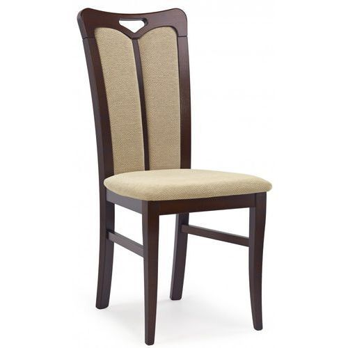 Stylowe krzesło drewniane HUBERT 2 ciemny orzech / Gwarancja 24m / NAJTAŃSZA WYSYŁKA!, V-PL-N-HUBERT2-C.ORZECH-KRZESŁO