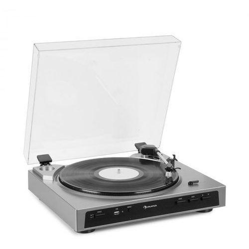 fullmatic w pełni automatyczny gramofon usb przedwzmacniacz kolor srebrny marki Auna