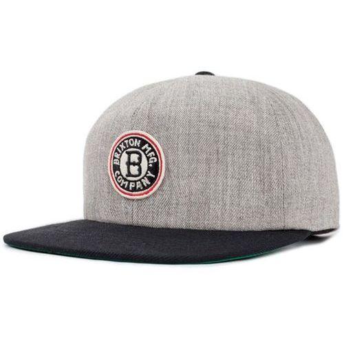 Płaska czapka  - louisville light heather grey/black (lhgbk) rozmiar: os marki Brixton