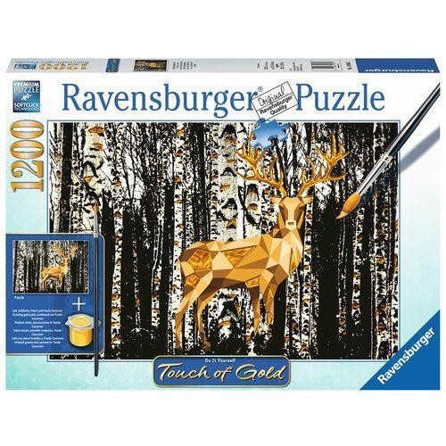 Puzzle 1200 Touch of Gold Jeleń w Birkenwald Puzzle do malowania