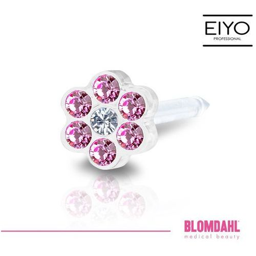 Blomdahl Kolczyk do przekłuwania uszu - daisy rose / crystal 5 mm