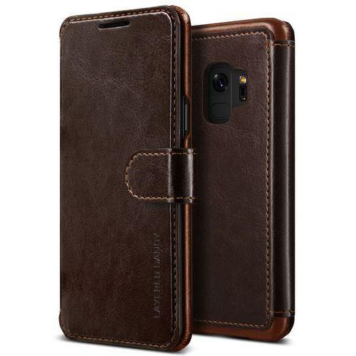Etui VRS Design Layered Dandy Samsung Galaxy S9 Brown, kolor brązowy
