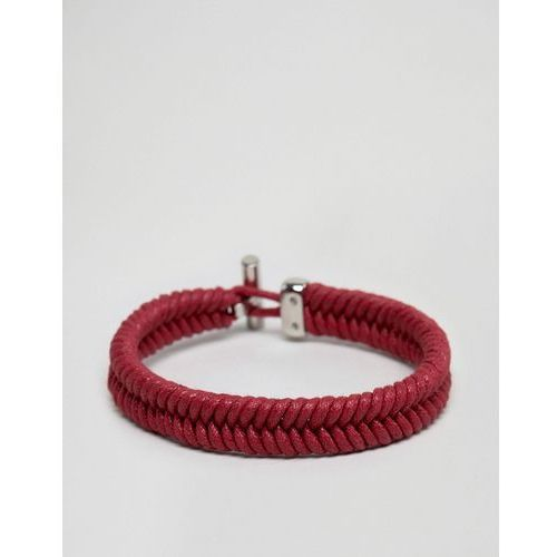 Tommy Hilfiger coated cord bracelet in red - Red