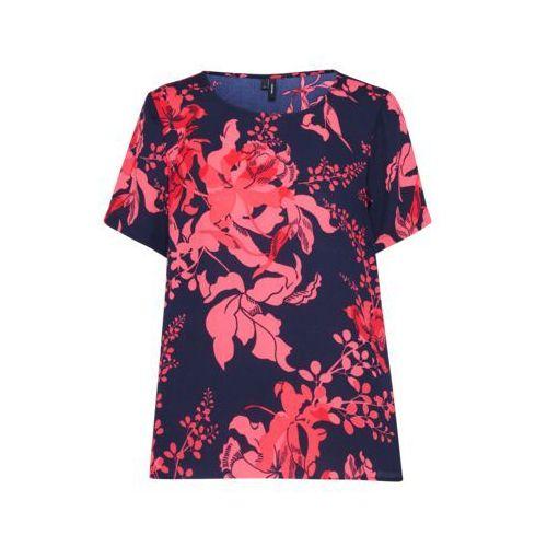VERO MODA Bluzka 'KANA' ciemny niebieski / stary róż / pastelowa czerwień