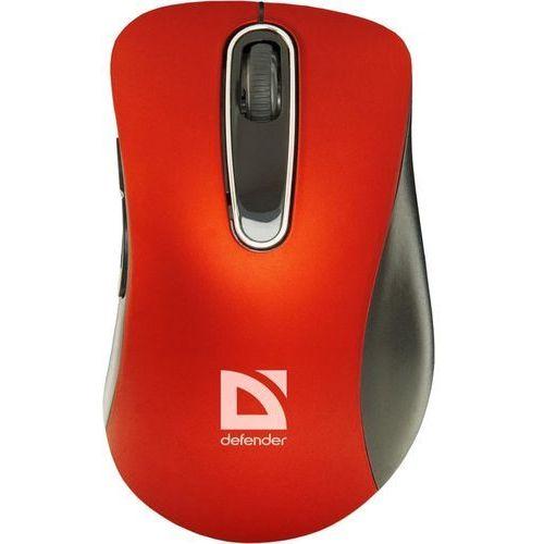 Mysz bezprzewodowa Defender DATUM MM-075 optyczna 1000dpi 5P czerwono-czarna (4714033520768)