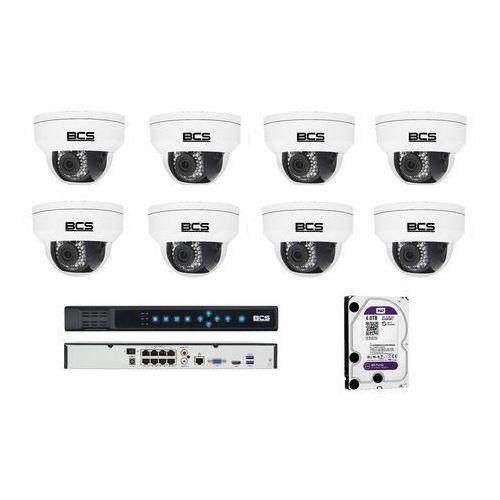 BCS-P-212RWSA Zestaw BCS POINT 8 kamer 2 Mpx 4TB HDD Rejestrator PoE. Idealny do obserwacji terenów przydomowych.