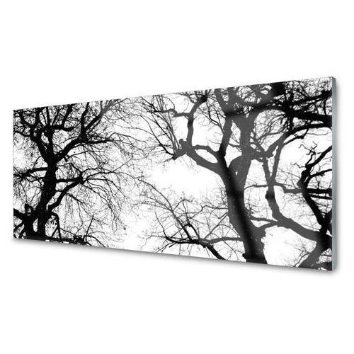 Obraz szklany drzewa natura czarno-biały marki Tulup.pl