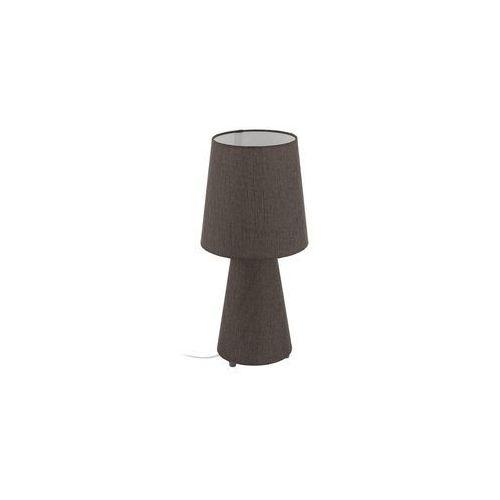 Lampka Eglo Carpara 97133 stołowa nocna 2x12W E27 LED H-470mm brązowa, 97133