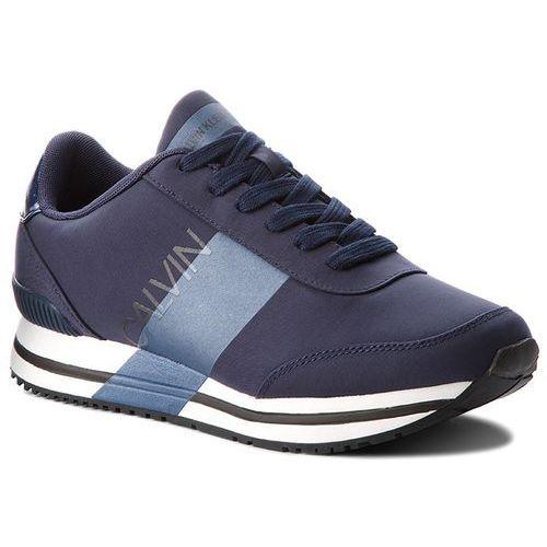 Sneakersy CALVIN KLEIN JEANS - Elwin SE8592 Navy/Metal Blue, kolor niebieski