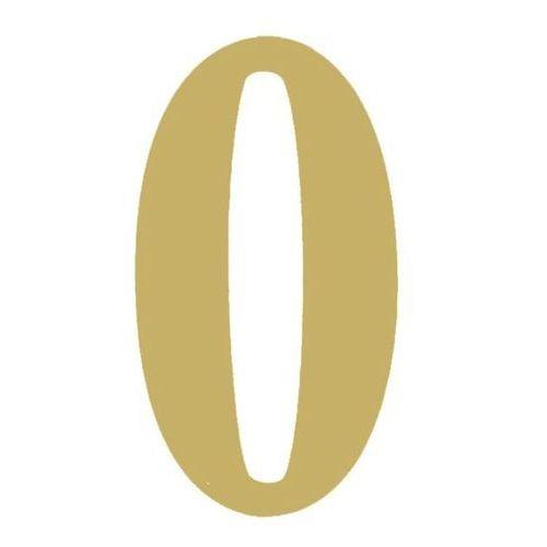 Cyfra 0 tworzywo 180 mm złota