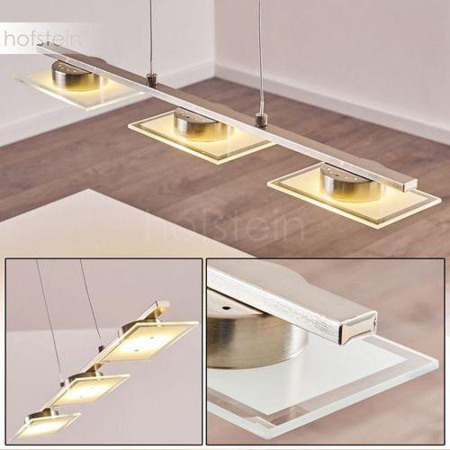 Globo TASHA I lampa wisząca LED Nikiel matowy, Chrom, 3-punktowe - Design - Obszar wewnętrzny - Holsted - Czas dostawy: od 3-6 dni roboczych