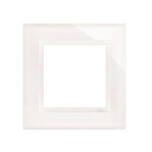 Kontakt - simon Ramka 1-krotna biała perła drn1/70 simon54 nature