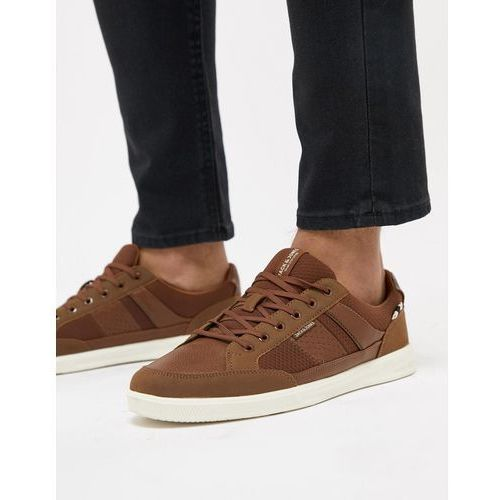 Jack & jones trainers with panel details - tan