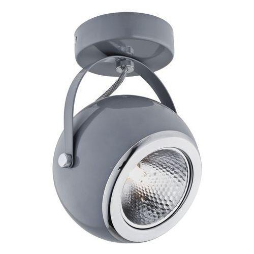 Kinkiet LAMPA ścienna ORINOKO 470 MDECO regulowana OPRAWA metalowy spot reflektorek kula ball szara (5908259943718)