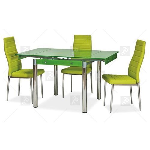 Komplet do jadalni - stół szklany gd-082 + 4 krzesła h-261- kolory marki Signal