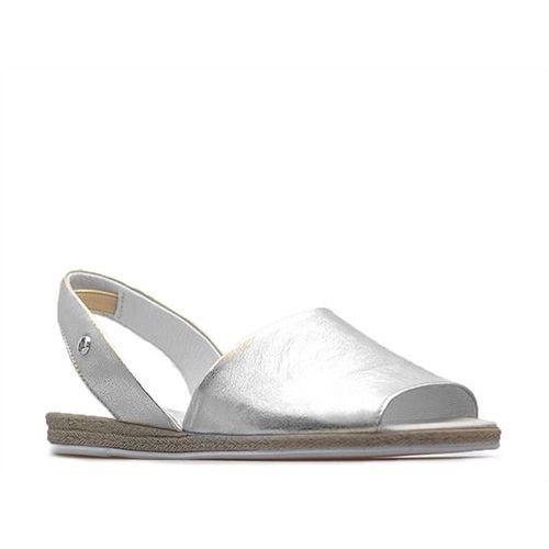 Sandały Lemar 40062 Srebrne przecierane, kolor szary