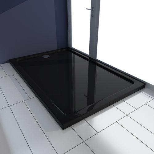 vidaXL Brodzik prysznicowy prostokątny ABS czarny 80 x 120 cm (8718475904977)