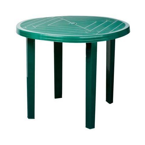 Stół Opal okrągły 90 x 70 cm zieleń leśna, obi_4101234