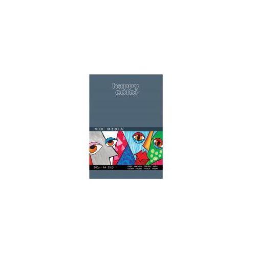 Staedtler Blok a4 happy color mix media 200g 25 kartek