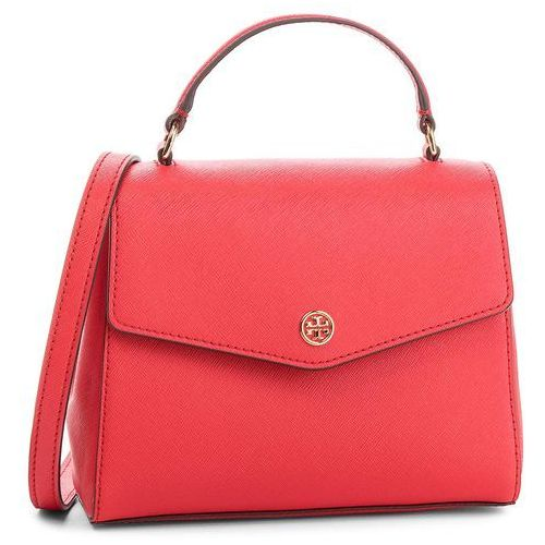 Tory burch Torebka - robinson small top-handle satchel 49686 brilliant red 612